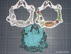Décembre : douceur. Celle de notre nid ♥ Tampons, Gravure, Hand Stamped, Decorative Plates, Creations, Prints, Handmade, Nest, Letters