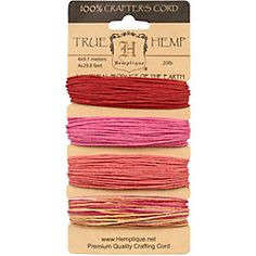Valentine's Day Natural Hemp Cord