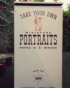 Vintage Photo Booth--we used to have SO much fun taking photos with our family & friends in photos booths like these.