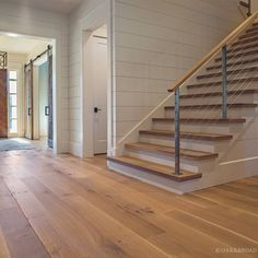 white oak flooring and stair treads