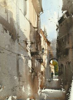 Chien Chung-Wei Plein air and demo by Chien Chung Wei's Workshop , Girona With Enjoy Painting Catalonia Watercolor City, Watercolor Artists, Watercolor Techniques, Watercolor Landscape, Watercolor And Ink, Watercolor Illustration, Watercolour Painting, Landscape Art, Landscape Paintings