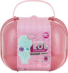 The insanely popular L.O.L. Surprise dolls offers this fun pink case filled with over 60 surprises! She'll receive 2 limited edition L.O.L. Surprise dolls that comes with 7 surprises each. She'll also get a limited edition L. Little Girl Toys, Toys For Girls, Kids Toys, Baby Girl Toys, Lol Dolls, Barbie Dolls, Barbie Stuff, Surprise Gifts, Surprise Box
