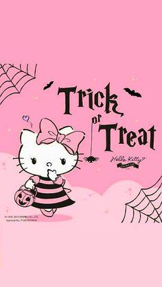 Halo Halloween, Hello Kitty Halloween, Sanrio Danshi, Character Creator, Halo Halo, Hello Kitty Pictures, Snoopy, Halloween Wallpaper, Hello Kitty Wallpaper