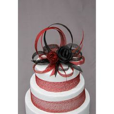 Red & Black Looped Flax Cake Topper Flax Flowers, Dried Flowers, Basket Weaving, Red Black, Cake Toppers, Wedding Cakes, Cupcakes, Wedding Ideas, Weddings