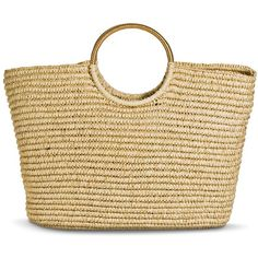 Merona Women's Oversized Woven Straw Tote Handbag - Tan (53 CAD) ❤ liked on Polyvore featuring bags, handbags, tote bags, purses, totes, hand bags, beach tote bags, purse tote, handbags totes and straw tote beach bag