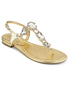 Marc Fisher Shoes, Lively Flat Thong Sandals - All Women's Shoes - Shoes - Macy's
