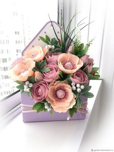 1 million+ Stunning Free Images to Use Anywhere Candy Bouquet Diy, Bouquet Box, Flower Box Gift, Flower Boxes, Paper Flower Centerpieces, Flower Decorations, Beautiful Flower Arrangements, Beautiful Flowers, Flower Embroidery Designs