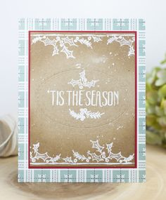 'Tis The Season Card by Ashley Cannon Newell for Papertrey Ink (November 2016)