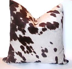 Check out our decorative pillows selection for the very best in unique or custom, handmade pieces from our shops. Cowhide Decor, Cowhide Pillows, Fur Pillow, Throw Pillows, Decorative Pillow Covers, Cover Pillow, Cow Hide, White Bedding, Slipcovers