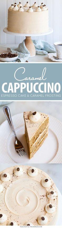 카라멜 프로스팅 카푸치노 에스프레소 케이크