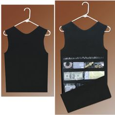 Hanging Closet Safe - The thieves probably wouldn't steal a tank top! From | Stitchery