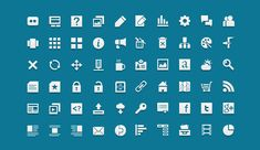 A free, creative commons licensed custom designed icon set with 60 vector shapes, perfect for the web.