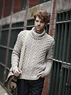 Cable Sweater, hand knit design by Martin Storey.