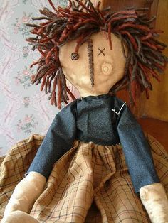 Beautiful primitive doll! By Thru the Attic Door.