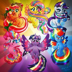 RAINBOW POWER! Rainbow SHINE My Little Pony Fanart by AleximusPrime.deviantart.com on @deviantART