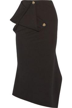 Victoria Beckham - Draped stretch-wool midi skirt de88b8ce1715