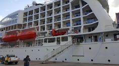Aranui 5 in port #Aranui #Marquesas #adventure