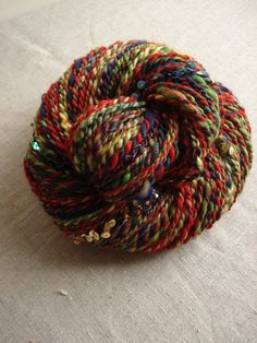 Sequin party, handspun art yarn