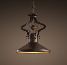 "This ""Machine-Age Plié Pendant"" is an example of great design. 16""w x 26""w Holds (1) 60 watt Edison bulb.  Final sale: $329.99"