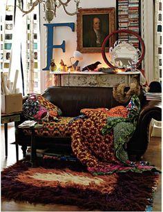 bohemian interior design -