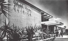 Seguro Social Clinica en Villa Olimpica, av. Insurgentes Sur, Tlalpan, México DF 1968   Arqs. Enrique del Moral y José Manuel Echávarri -  Social Security Clinic, Olympic Village, Tlalpan, Mexico City 1968