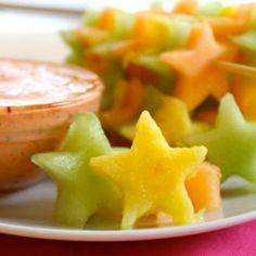 How to make eating fruit fun: Star fruit kabobs!
