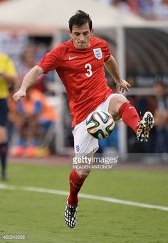 England defender Leighton Baines plays with the ball during the friendly match between England and Honduras at Miami Sun Life Stadium in Miami. Leighton Baines, England International, England Players, England National, England Football, National Football Teams, Football Photos, Honduras, Plays