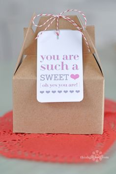 "Great idea for a ""thinking of you"" husband (or friend) treat!"