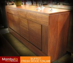 Mueble de madera de tzalam freshwood www.mambuka.com.mx
