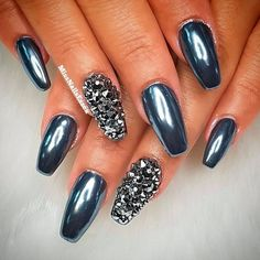 Dark Metallic Coffin Nails ❤ 35+ Magnificent Coffin Nails Designs You Must Try ❤ See more ideas on our blog!! #naildesignsjournal #nails #nailart #naildesigns #nailshapes #coffinnails #balerinanails #coffinnailshapes Coffin Shape Nails, Nude Color, Cool Nail Art, Beautiful One, Nail Tips, Fun Nails, Nail Designs, Ongles, Nail Desings