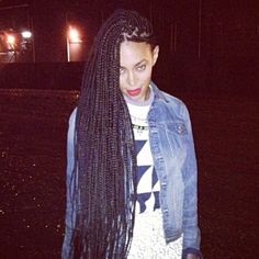 Solange Knowles with some fresh braids in London this week.