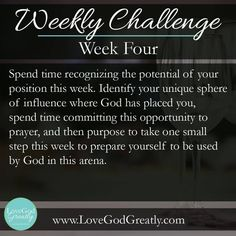 {Esther Study Week Challenge: Spend time recognizing the potential of your position this week. Identify your unique sphere of influence where God has placed you Keep The Faith, Walk By Faith, Scripture Quotes, Words Quotes, Bible Verses, Esther Bible Study, Bible Study Materials, Bible Resources, Online Bible Study