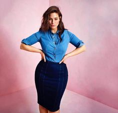 Model Ashley Graham Has An Empire Building State Of Mind Ashley Graham Outfits, Ashley Graham Style, Curvy Outfits, Plus Size Outfits, Fall Outfits, Fashion Outfits, Skirt Fashion, Curvy Girl Fashion, Plus Size Fashion