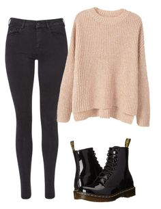 """Untitled #124"" by suri-rodriugez on Polyvore featuring Maison Scotch, MANGO and Dr. Martens"