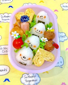 Cute Bento Boxes, Bento Box Lunch, Cute Food, Good Food, Yummy Food, Bento Kids, Kids Lunch For School, Bento Recipes, Kids Menu