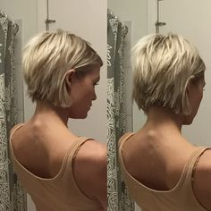 short blonde choppy hair