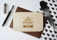 Wenskaart verjaardag CAKE (met personalisatie)