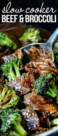Crockpot Beef And Broccoli, Crockpot Dishes, Broccoli Recipes, Crock Pot Cooking, Beef Dishes, Cooking Recipes, Healthy Recipes, Crockpot Beef Recipes, Roast Recipes