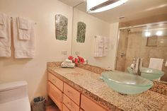 Kahana Reef #1380211 | Maui Hawaii Vacations Updated Bathroom with Vessel Sink and Tiled Shower