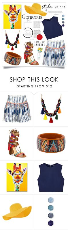 """""""colorful summer"""" by chloe-86 ❤ liked on Polyvore featuring Alphamoment, Schutz, Etro, Trademark Fine Art, Alice + Olivia, Accessorize, Terre Mère, contestentry, laceupsandals and PVStyleInsiderContest"""