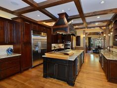 Photo of Brown Mediterranean Kitchen project in BOONE, NC by VPC Builders