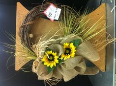 Summer Burlap w/ Sunflowers by Norma