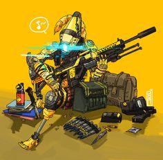 I draw things. Ninja Action Figures, Warframe Art, Fighting Robots, Arte Cyberpunk, Geeks, Robot Concept Art, Sci Fi Characters, Science Fiction, Titans
