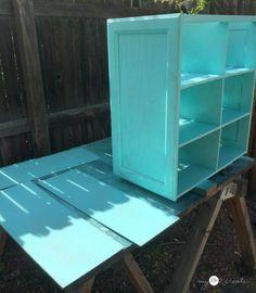 painting cupboard door shelf