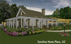 Small country cottage home plan
