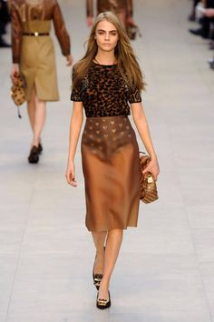 Mixing leopard with hearts at Burberry Fall 2013 runway #fashionweek