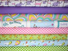Dr Seuss Oh the Places You'll Go quilt or craft by fabricshoppe