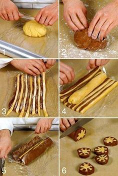 how to bicolor cookies