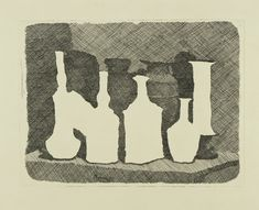 Morandi: Lines of Poetry negative and positive pace. Giorgio Morandi, Still life with Vases on a Table, and positive pace. Giorgio Morandi, Still life with Vases on a Table, 1931 Italian Painters, Italian Artist, Space Drawings, Art Drawings, Landscape Drawings, Still Life Artists, Still Life Drawing, Art Moderne, Elements Of Art