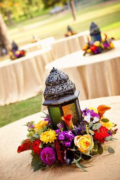 moroccan lantern centerpiece ideas - Google Search